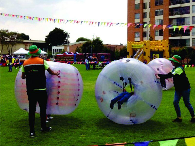 Esferas de Choque para eventos recreativos, empresariales y de colegio